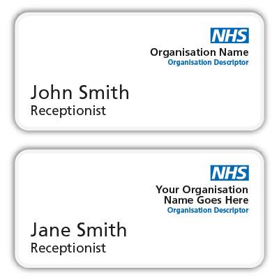 NHS Name Badges - Name Badges International - Staff Name